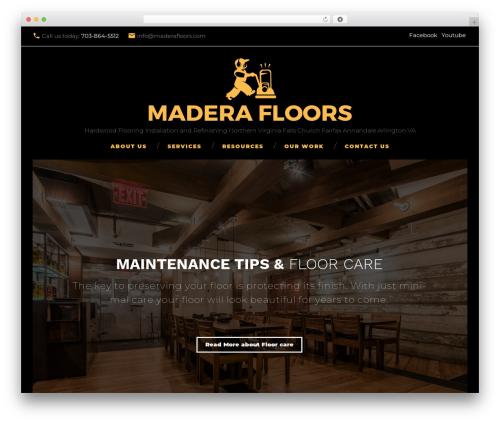 Durand WordPress theme design - maderafloors.com