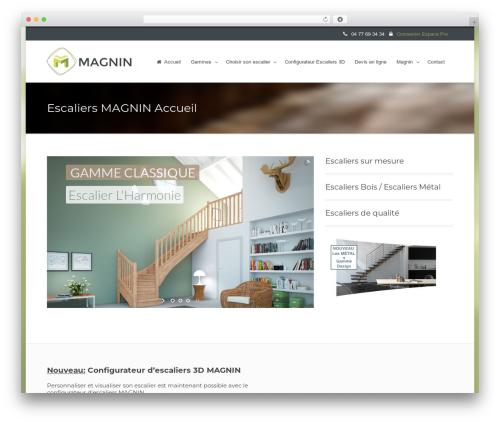 Flawless WordPress theme - magnin-escaliers.com