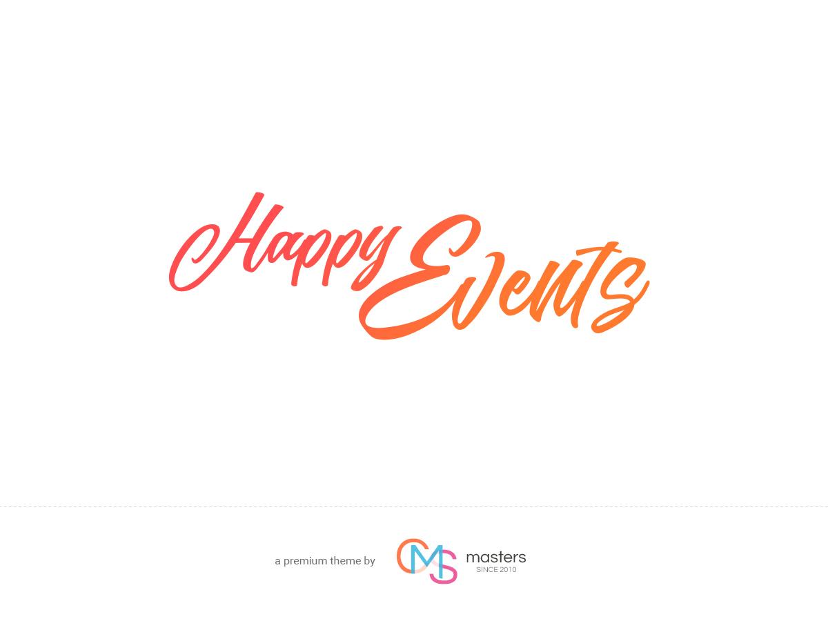 Happy Events WordPress blog theme