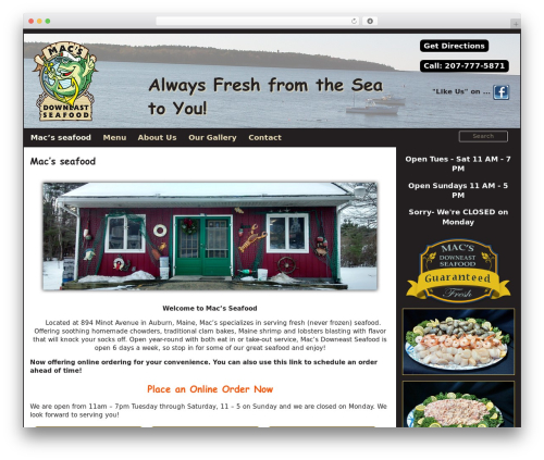Hieroglyph 0.5.0 food WordPress theme - macsdowneastseafood.com