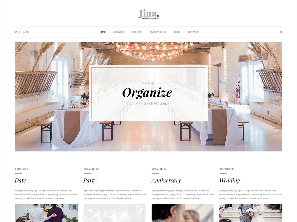 Image result for jina wordpress theme