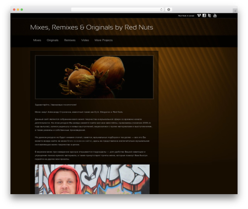 Modular WordPress template - music.red-nuts.com