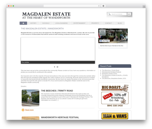 Modular WP template - magdalenestate.co.uk