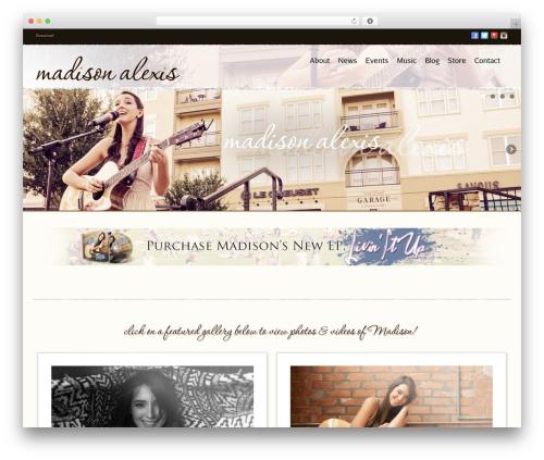 Noisy template WordPress - madison-alexis.com