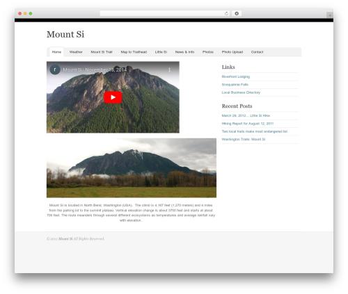 Oracle top WordPress theme - mountsi.com