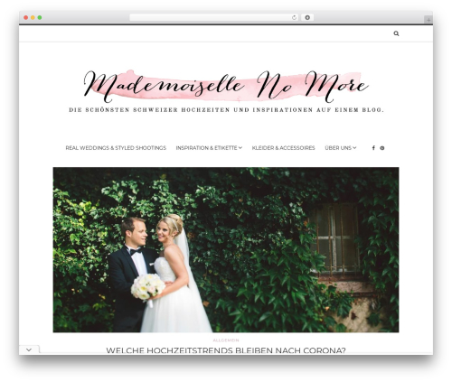 Solstice best wedding WordPress theme - mademoiselle-no-more.com