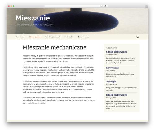 Twenty Thirteen best WordPress theme - mieszanie.woziwodzki.pl