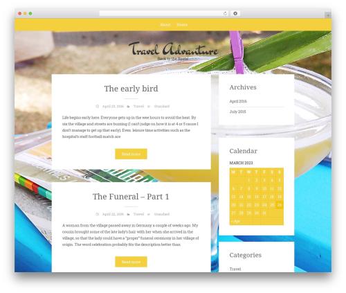 WordPress theme Sean Lite - madeleineslifestyle.com