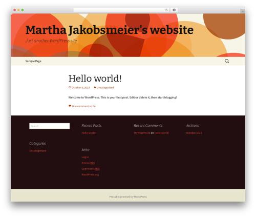 WordPress theme Twenty Thirteen - martha.jakobsmeier.com