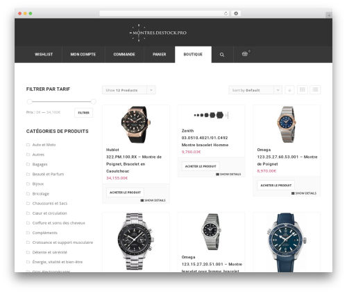 ArkaHost theme WordPress - montres.destock.pro