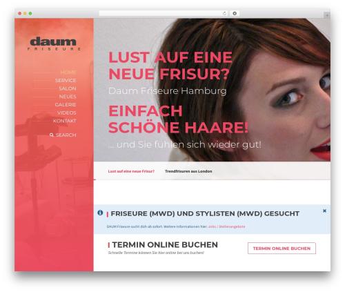 BeautySpot best WordPress theme - friseurehamburg.com