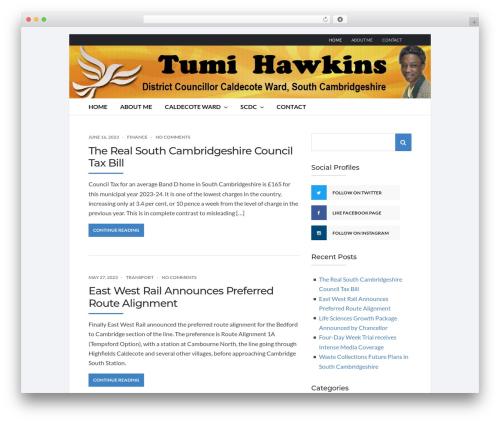 Best WordPress template Socrates v5 - tumihawkins.org.uk
