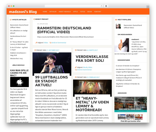 bloggr WordPress theme design - madzzoni.dk