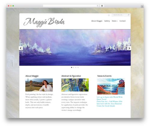 Chameleon premium WordPress theme - maggiebroda.com