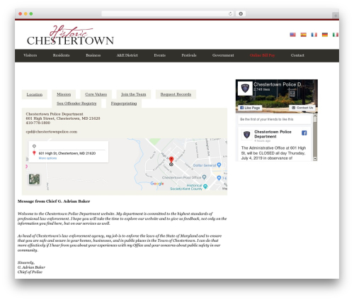 City Government best WordPress template - townofchestertown.com/government/police-department