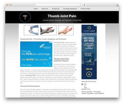 ClickBump WordPress theme - thumbjointpain.net