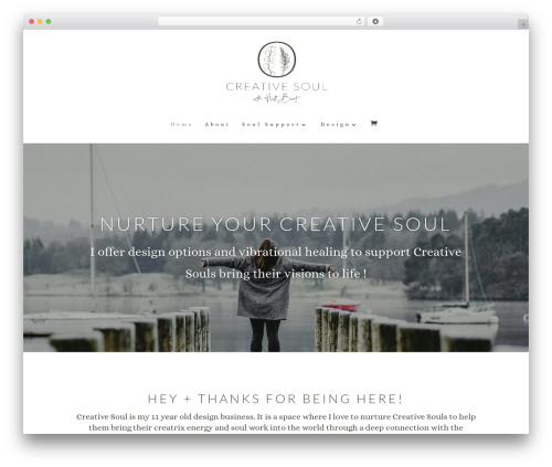 Divi WordPress page template - thecreativesoulstudio.com