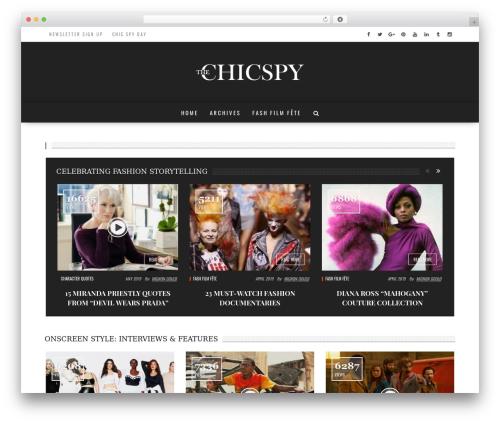 fmagazine WordPress theme - thechicspy.com