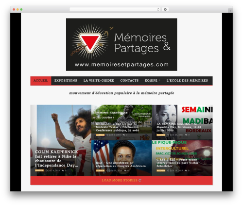 Goliath theme WordPress - memoiresetpartages.com