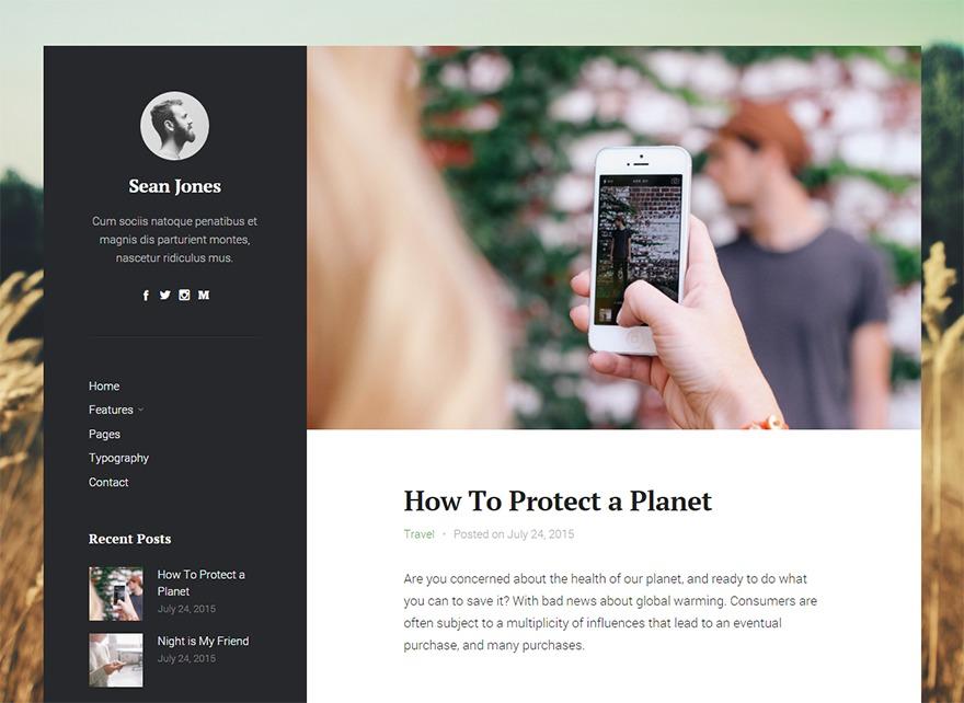 Iceberg WordPress blog template