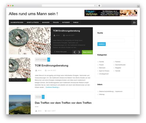 Magnovus WordPress blog template - maenner-blog.at