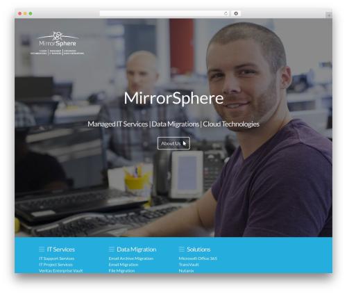 Mirrorsphere best WordPress template - mirrorsphere.com