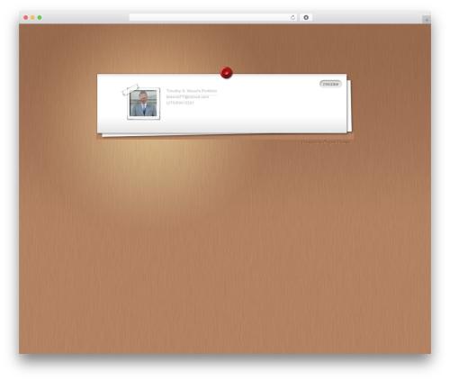 Myresume Wordpress Template Free By Elegant Themes