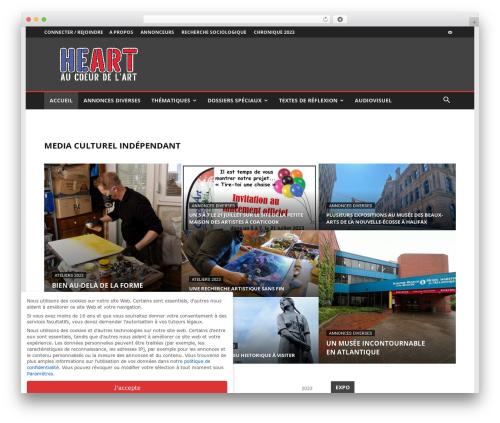 Newspaper WordPress magazine theme - magazinedesarts.com