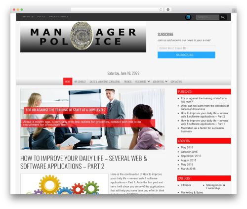 NewsPress Lite free WordPress theme - managerpolice.kinvest.net