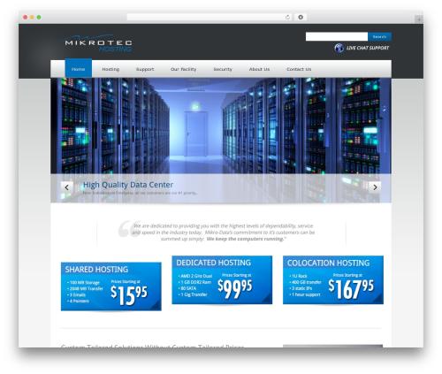 Quickhost WordPress template for business - mikro-data.net