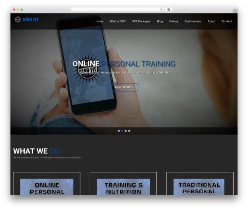 SKT Fitness Pro gym WordPress theme - mabfit.net