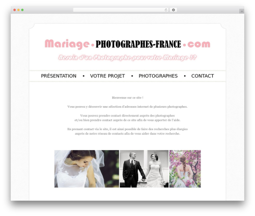 Sugar and Spice best WordPress theme - mariage.photographes-france.com