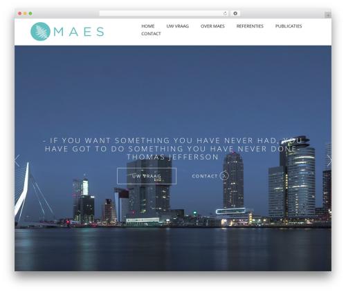 Visia WordPress page template - maesdevelopment.nl