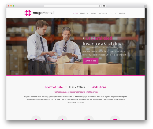 WordPress theme Salient - magentaretail.com.au