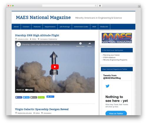 WordPress theme Smartline - maesnationalmagazine.com