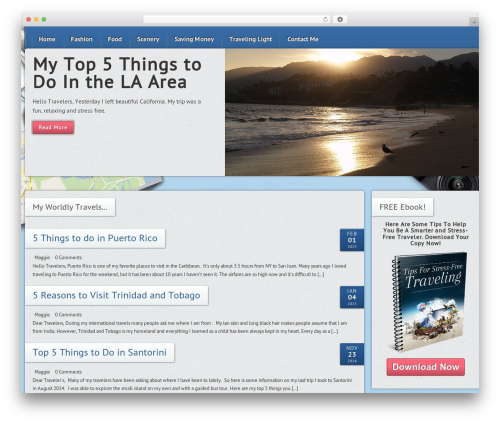 WordPress website template Fresco - maggiestravels.com