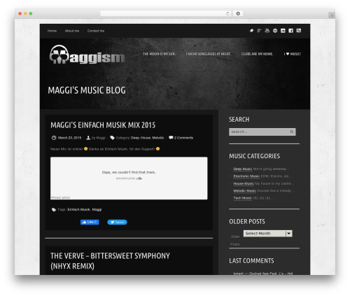 WordPress website template Music Pro - maggism.com