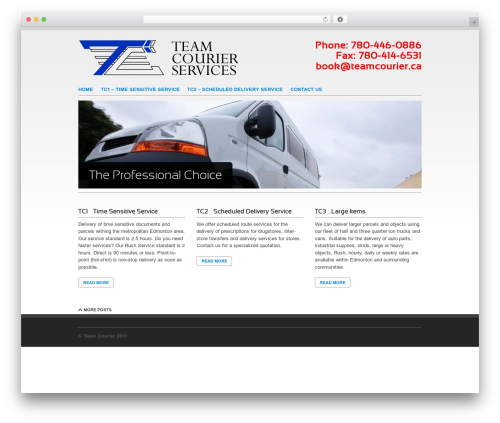 WP template Clean Slate - teamcourier.ca
