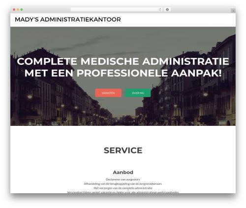 Zerif Lite WordPress theme download - madysadministratiekantoor.nl