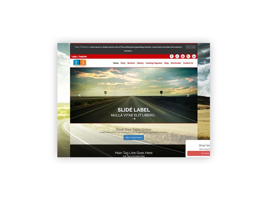 Ajusta top WordPress theme