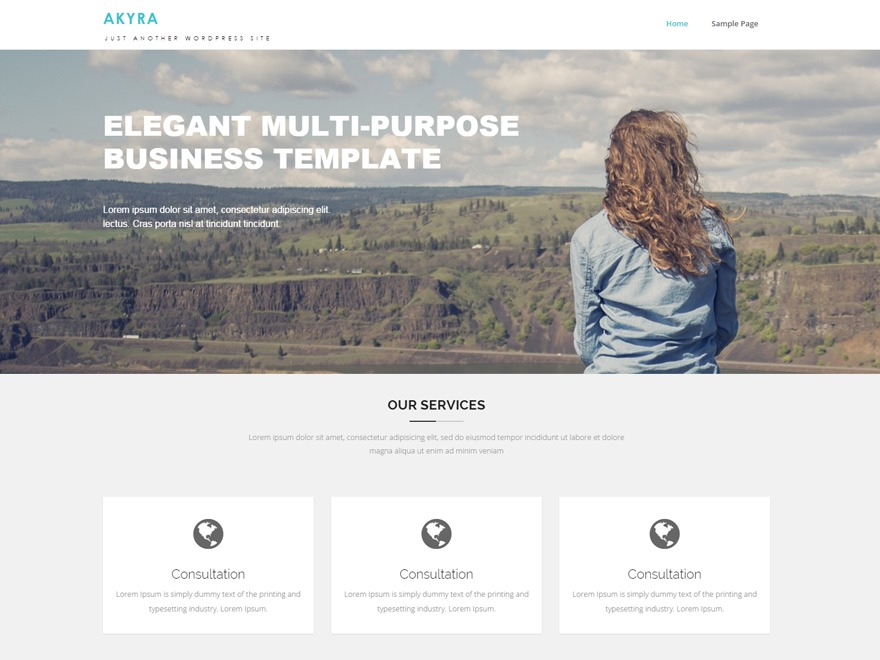 Akyra company WordPress theme