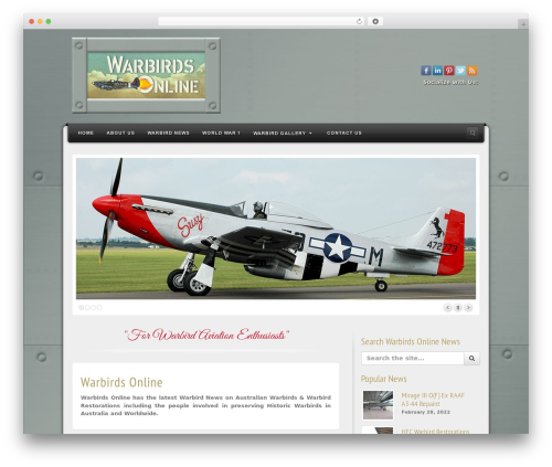 Alyeska newspaper WordPress theme - warbirdsonline.com.au