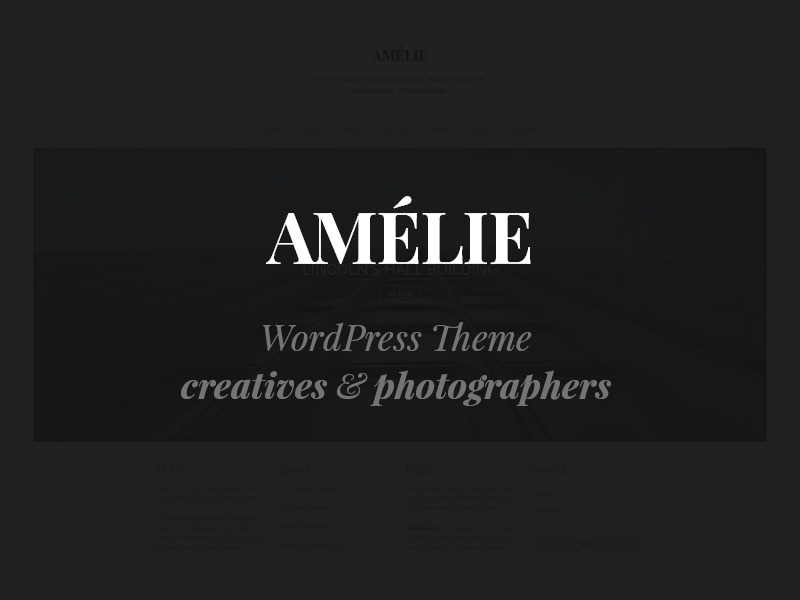 Amelie WordPress theme