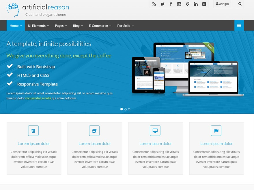Artificial Reason best WordPress template