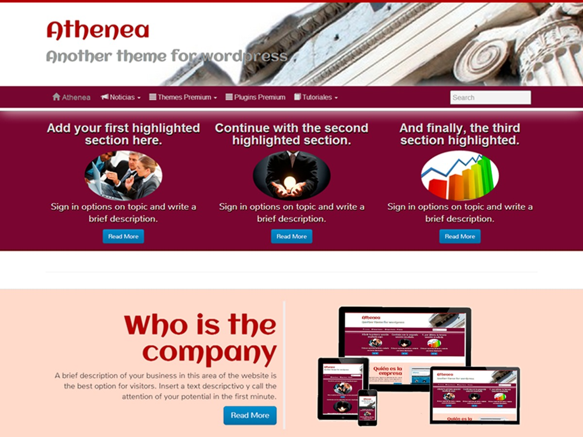 Athenea theme WordPress free