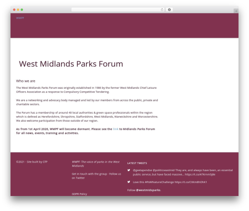 Free WordPress Theme My Login plugin - westmidlandsparksforum.co.uk