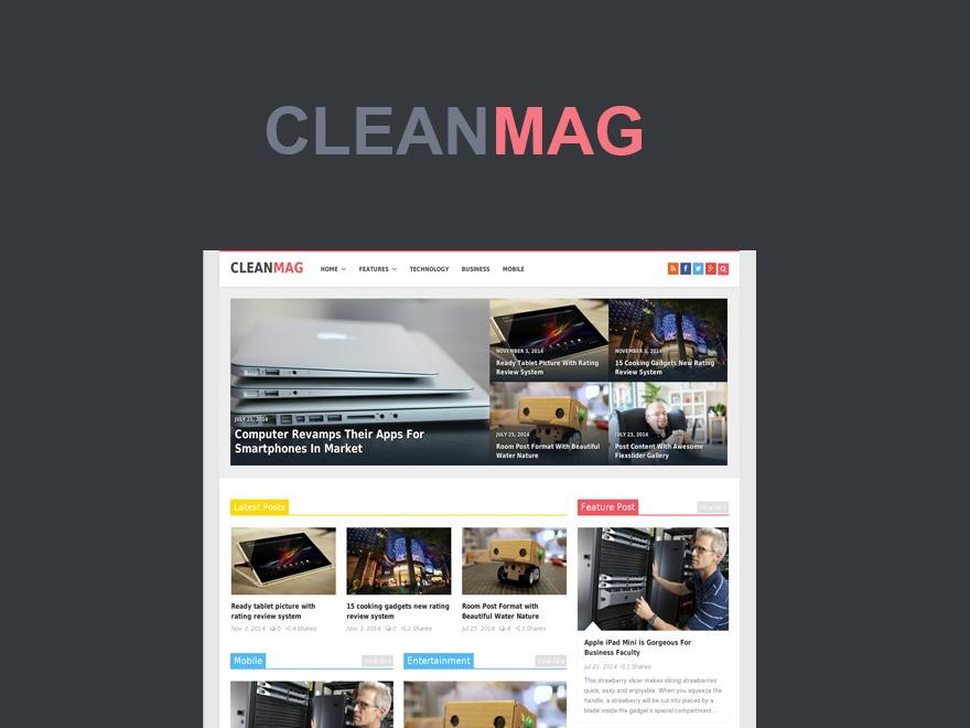 Best WordPress theme CleanMag