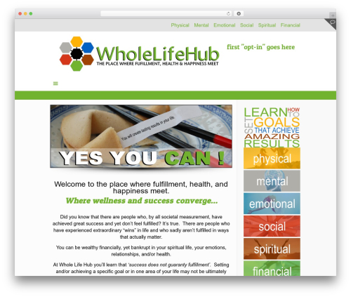 Betheme WordPress template - wholelifehub.com