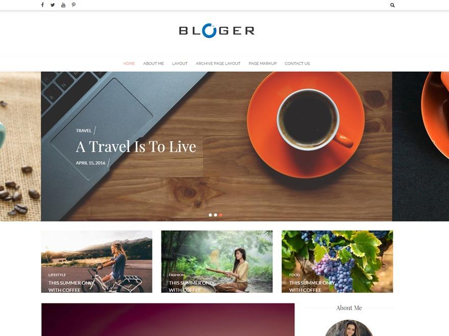 Bloger WordPress blog template