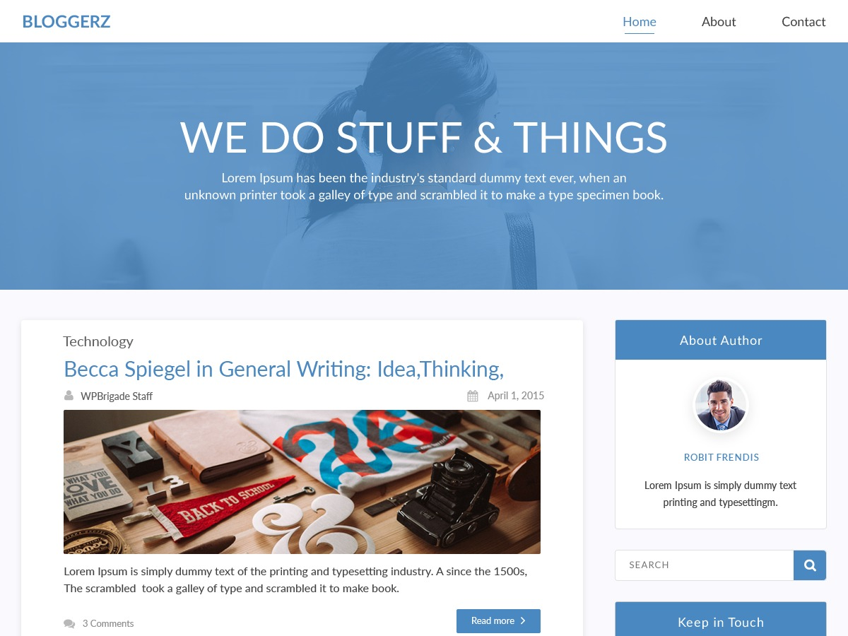 Bloggerz free WP theme